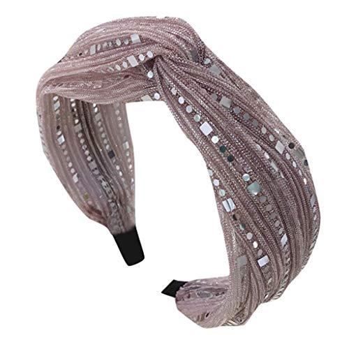 XJJZS Pinza de Pelo Mujer Niñas Moda Arco Dulce Nudo Flecha Imprimir Hairband Hoop Accesorios de Diadema Simple (Color : G)