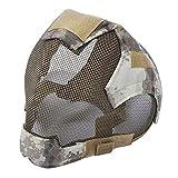 JK-2 Maschera da Scherma in Acciaio a Rete Maschera Softair Protettiva Integrale