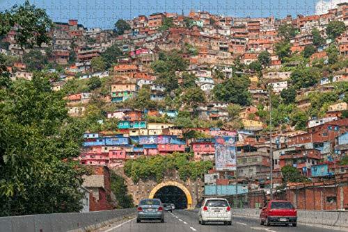 Venezuela Barrio House Caracas Rompecabezas para adultos 500 piezas Regalo de viaje de madera Recuerdo
