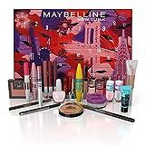 Maybelline New York - Calendario de Adviento 2021 de Maquillaje con 24 productos sorpresa de la marca - incluye maquillaje para ojos, labios, rostro y uñas
