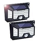 Fityou Luce Solare 66 LED, 3 modalità Lampada Solare da Esterno, Luci Senza Fili di 4 Lati con Ampia Area di Illuminazione, Super Luminoso Luci di Sicurezza e Impermeabili per Giardino (2 Pezzi)