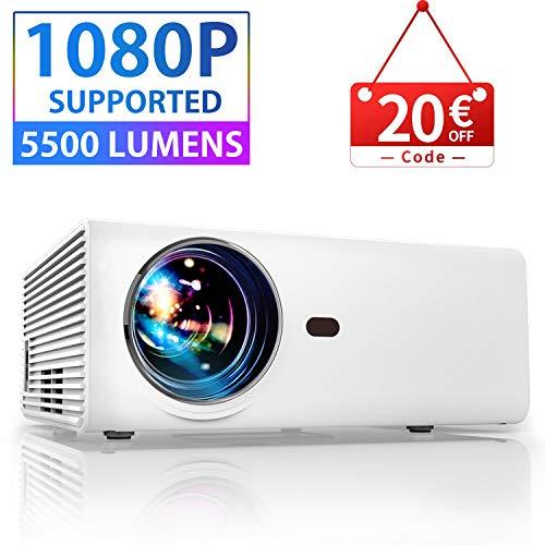 petit un compact Projecteur vidéo, mini projecteur portable YABER Native 1280 * 720P prend en charge 1080P Full HD 5000…