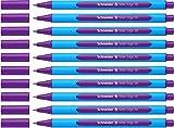 Schneider Slider Edge XB Kugelschreiber (Strichstärke: XB, dokumentenecht, Dreikant-Stift) 10er Packung violett