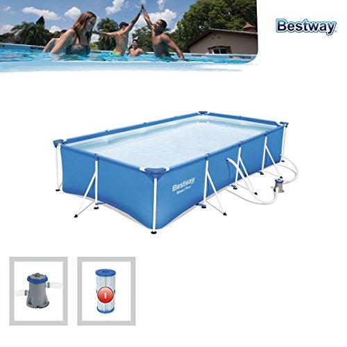 Bestway Steel Pro Pool Set 400x211x81cm Stahlrahmenpool mit Filterpumpe