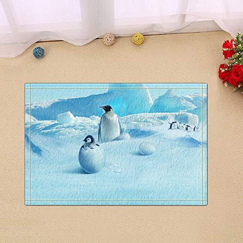 /N Pingüino Impermeable Tejido de poliéster Decoración para el hogar Cortina de baño Baño Colchoneta