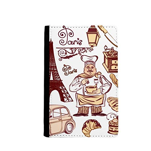 beatChong Essen Herd Frankreich Eiffelturm-Pass-Halter Travel Wallet Abdeckungs-Fall Karten-Geldbeutel