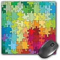 マウスパッドゲーム機能抽象厚い防水デスクトップマウスマットカラフルパズルピースフラクタル子供趣味アクティビティレジャーおもちゃ漫画画像、灰色と白滑り止めゴムベース