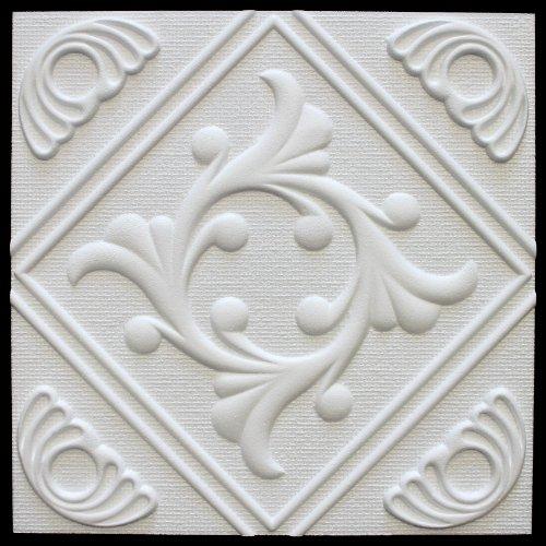 1m2Placas de techo poliestireno placas estuco techo Decoración Placas 50x 50cm, Anet