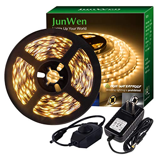 Our #2 Pick is the Jun Wen 16.4ft Warm White Flexible LED Strip Light Kit