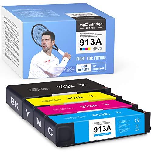 myCartridge SUPRINT 913A - Cartuchos de tinta con chip compatible con HP 913 913A para HP PageWide MFP 377DW 477dw 477dn 552dw Pro 377dn 352dn 452dw 452dn Managed P55250dw P57750dw