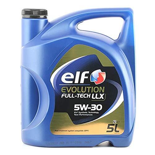 ELF Evolution Full-Tech LLX 5W-30, Olio per Motore 504.00/507.00 MB 229.51, fustino da 5 l