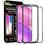OAproda iPhone 11 / iPhone XR ガラスフィルム 全面保護強化ガラス【ガイド枠付き】(2018/2019新型)
