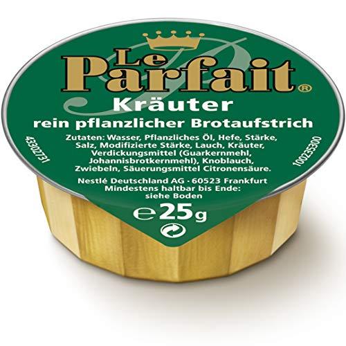 Le Parfait Kräuter, Veganer Brotaufstrich Herzhaft Cremig und Pflanzlich, o.k.A., 1 Karton (120 x 25g)
