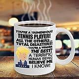 N\A Jugador de Tenis Taza Divertida de Trump Taza de Donald Trump Navidad Navidad Cumpleaños Regalo Divertido de la mordaza Taza de café Divertida Tenis Pro Serena Williams Maga