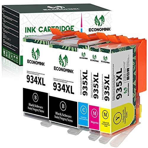 Economink Sostituzione cartucce d'inchiostro per HP 934 935XL compatibile con HP Officejet Pro 6230 6830 6835, HP Officejet 6220 6812 6815 6820 (2 nero, 1 ciano, 1 magenta, 1 giallo)