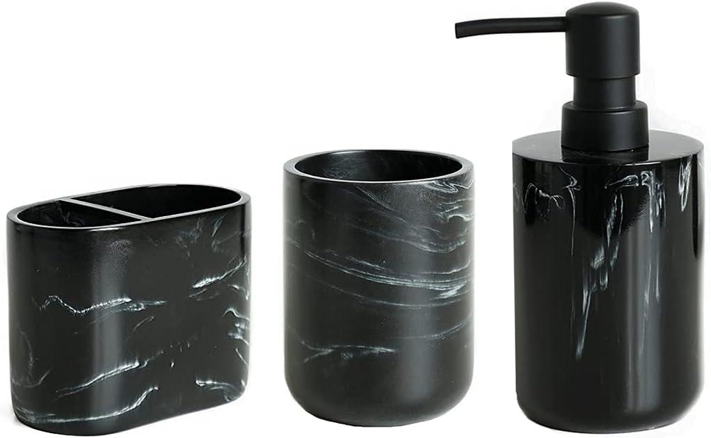 zhanwang 5-Piece Marble Bathroom Recommendation Decoratio 1 year warranty Accessories