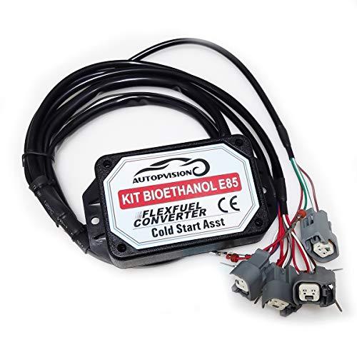Kit Clic-and-Buy E854-cylindres, 4Cyl E85Kit de conversión Combustible Alternativo de etanol con...