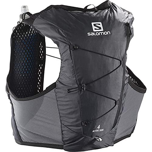 Salomon Active Skin 4 Set Chaleco 4L Unisexo 2x Soft Flasks Incluidas Trail Running Senderismo