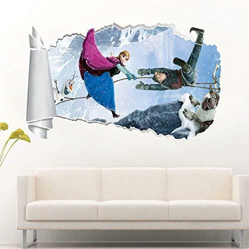 HQSM Pegatinas de pared 3d torn hole wall sticker decal art mural