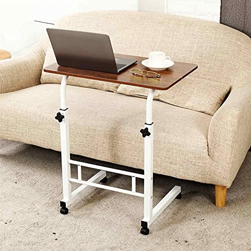 ZhuFengshop Computer Table Height Adjustable Portable Laptop Desk Rotate Laptop Bed Table Can Be Lifted Standing Desk (Color : Brown)