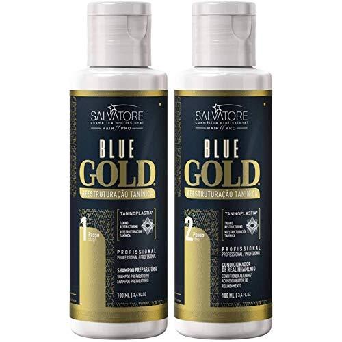 blue gold Kit Lissage Tanin Salvatore Enrichi aux Tanins Végétaux Vertclair Lot de...