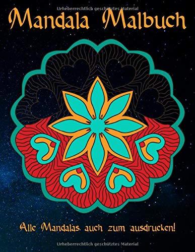 Mandala Malbuch: 95 Mandalas für Erwachsene auf schwarzem Hintergrund für fantastische Farben | kostenlose Malvorlagen als PDF zum Ausdrucken