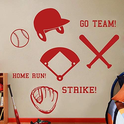 Wandaufkleber Für Schlafzimmer, Baseball Set Baseball Halle Athletic Sports Wasserdicht Living Abstract Tapete Büro Poster Kunstwerk Malerei Bild