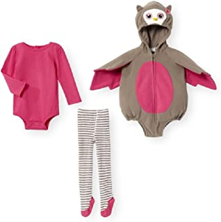 Baby Girls Boys 3 pc Brown & Pink Owl Costume