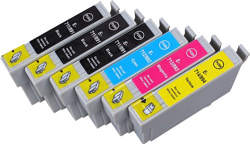 6 Multipack de alta capacidad Epson T0715 , T0895 Cartuchos Compatibles 3 negro, 1 ciano, 1 magenta, 1 amarillo para Epson Stylus D120, Stylus D78, Stylus D92, Stylus DX4000, Stylus DX4050, Stylus DX4400, Stylus DX4450, Stylus DX5000, Stylus DX5050, Stylus DX6000, Stylus DX6050, Stylus DX7000F, Stylus DX7400, Stylus DX7450, Stylus DX8400, Stylus DX8450, Stylus DX9400F, Stylus Office B40W, Stylus Office BX300F, Stylus Office BX310FN, Stylus Office BX600FW, Stylus Office BX610FW, Stylus S20, Stylus S21, Stylus SX100, Stylus SX105, Stylus SX110, Stylus SX115, Stylus SX200, Stylus SX205, Stylus SX210, Stylus SX215, Stylus SX218, Stylus SX400, Stylus SX405, Stylus SX405WiFi, Stylus SX410, Stylus SX415, Stylus SX510W, Stylus SX515W, Stylus SX600FW, Stylus SX610FW. Cartucho de tinta . T0711 , T0712 , T0713 , T0714 , T0891 , T0892 , T0893 , T0894 , TO711 , TO712 , TO713 , TO714 , TO891 , TO892 , TO893 , TO894 © 123 Cartucho