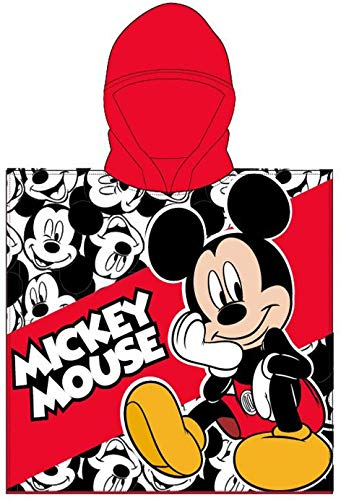 Poncho Toalla de niño Infantil de baño y Playa con Capucha Licencia Oficial Disney (8095)