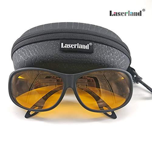 Laserland T-UB Laserschutzbrille 445nm 450nm 190-490nm UV-Desinfektion Lasergravur Graviermaschine pc Brille laserbrille Laser schutzbrille UV Blau Laserdiode Halbleiterlaser 405nm 450nm 473nm