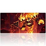 Bimor Extended Gaming Mouse Mat / Pad - Large, Wide (Long) Custom Professional Mousepad, Stitched Edges, Ideal for Desk Cover, Computer Keyboard, PC and Laptop (90x40 huoguai13)