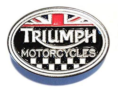 Pin de solapa de metal Matfords Triumph con cierre seguro y ajuste de pasador de larga duración, hecho a mano, diseño de superficie esmaltada a mano, resistente al deslustre, insignia de metal aprox. 14 mm x 20 mm
