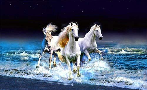 Legpuzzel Voor Volwassenen 1000 Stukjes, Wit Paard Dat Op Het Strand Loopt, 1500/1000/500 Stukjes, Puzzel Spelletjes Woondecoratie Cadeaus