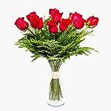 Ramo de 12 rosas - París - Ramos de flores naturales a...