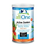 allOne Multiple Vitamin & Mineral Powder, for Active Seniors | Once Daily Multivitamin, Mineral & Amino Acid Supplement w/ 4g Protein | 10 Servings