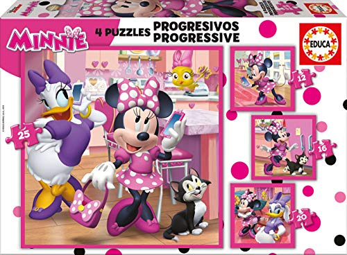 Educa Borrás Mickey and The Roadster Racers Progresivos Minnie Happy Helpers (17630) , Modelos/colores Surtidos, 1 Unidad