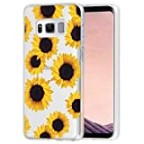 Vavies Case for Galaxy S8 Plus, Galaxy S8+ Plus, Samsung S8 Plus Phone Case for Girls, Slim Shockproof Clear Pattern Soft Flexible TPU Protective Cover Cases for Samsung Galaxy S8 Plus(Sunflower)