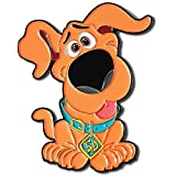 Scoob 2020 Soft Enamel Nickle Plated 2' Pin with Scooby Doo Waterproof Vinyl Sticker'Ruh-Roh!'