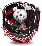 Franklin Sports MLB Youth Teeball Backs and and Set - Kids Arizona Diamondbacks Baseball and Teeball Glove and Ball - Perfect First Kids Glove - 9.5