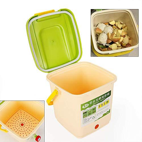 DiLiBee 9L Garten Mülleimer Komposter umweltfreundlich Recycling Garten Blätter Abfall Kompostbehälter Küchenkomposter Starterset Komposter Küche 4-6 Weeks DE