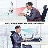 ABOX Sit-Stand Workstation, Höhenverstellbarer Schreibtisch-Aufsatz Computertisch mit automatischem elektrischem Knopf, Tastaturablage, ergonomischer Sitz-Steh-Schreibtisch für Büro Zuhause - 3