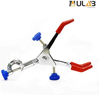 ULAB 3 Prong Lab Clamp, Electric Steel Material, Max Jaw Size 60mm, Dual Adjust, USC1001