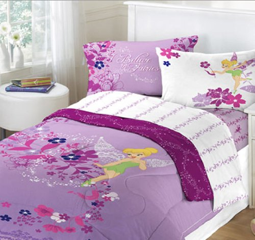 cute tinkerbell bedding purple duvet set