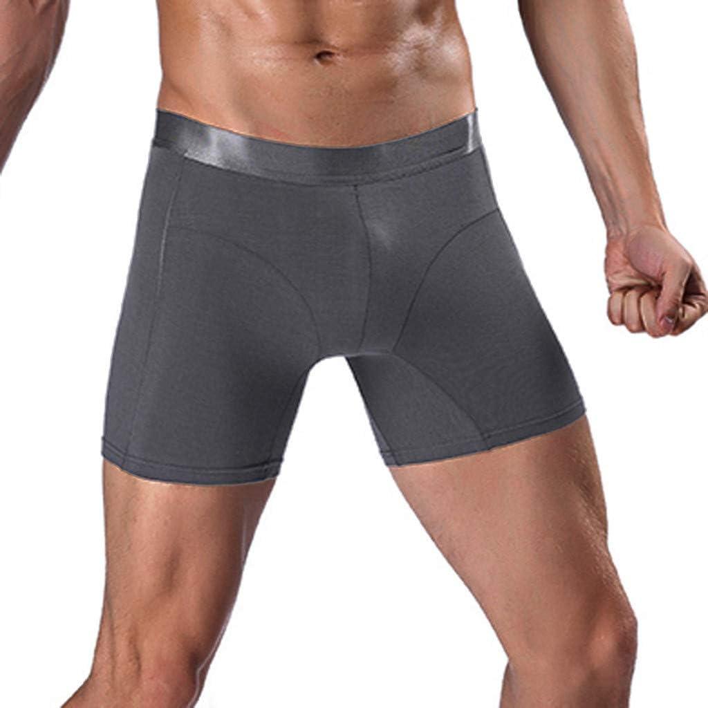 MODOQO Men's Underwear Boxer Briefs Long Leg Regular Fit Comfortable Underpants