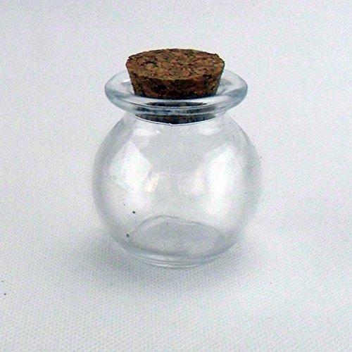 Bomboniere Barattoli in vetro e tappo in sughero 48pz - tondo