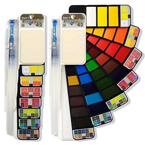 ARTIST Start Acuarela Abanico 42 Colores + Pincel RELLENABLE