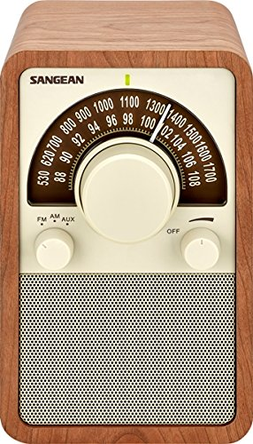 Sangean WR-15WL AM/FM Table Top Wooden Radio, Walnut