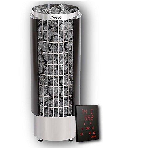 Harvia Cilindro Saunaofen PC90HE schwarz Xenio Steuergerät 100 kg Saunasteine