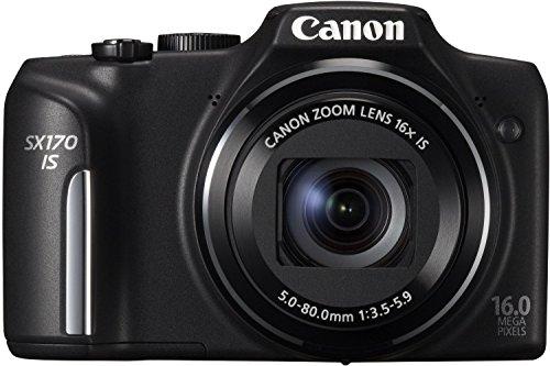 Canon PowerShot SX170 is Digitalkamera (16 MP, 16-Fach Opt. Zoom, 7,6cm (3 Zoll) LCD-Bildschirm, bildstabilisiert) schwarz